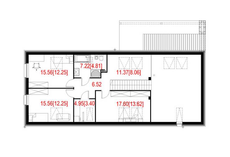 Projekty domów - House 01: styl , w kategorii  zaprojektowany przez Majchrzak Pracownia Projektowa