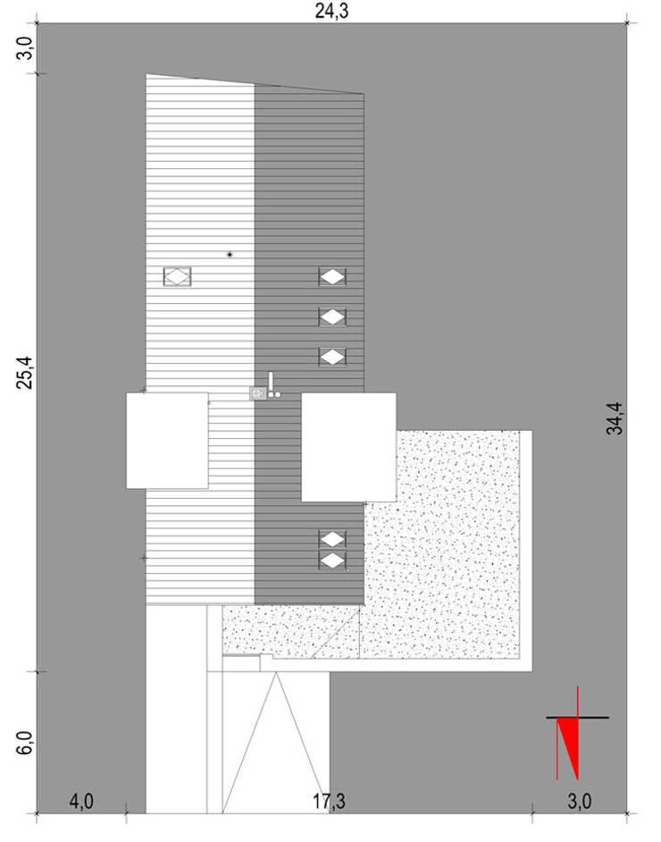 Projekty domów - House 19: styl , w kategorii  zaprojektowany przez Majchrzak Pracownia Projektowa