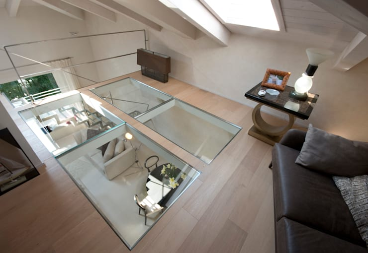 Salas de estar ecléticas por bilune studio