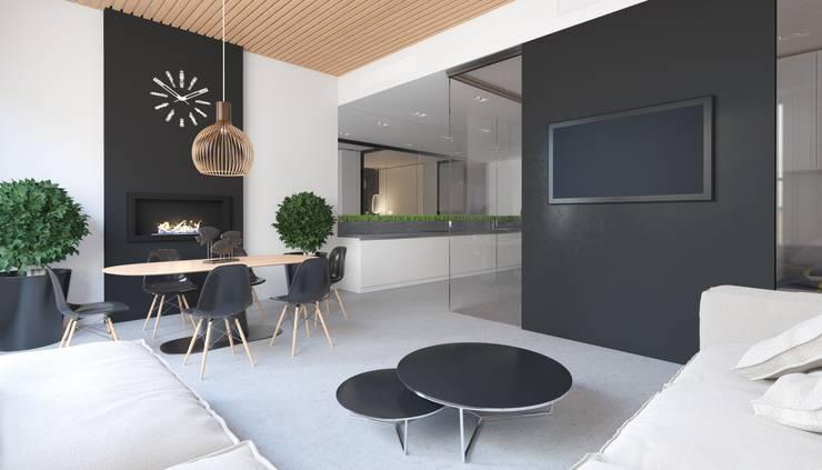 Апартаменты в стиле Лофт: Гостиная в . Автор – Архитектурное бюро DR House