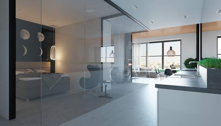 Апартаменты в стиле Лофт: Кухни в . Автор – Архитектурное бюро DR House ,