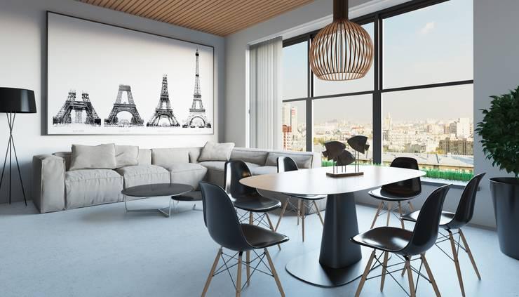 Апартаменты в стиле Лофт: Гостиная в . Автор – Архитектурное бюро DR House ,