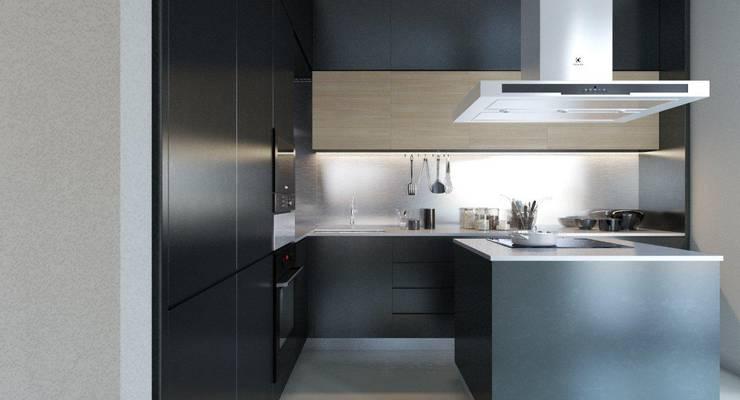Пентхаус для денди: Кухни в . Автор – Архитектурное бюро DR House