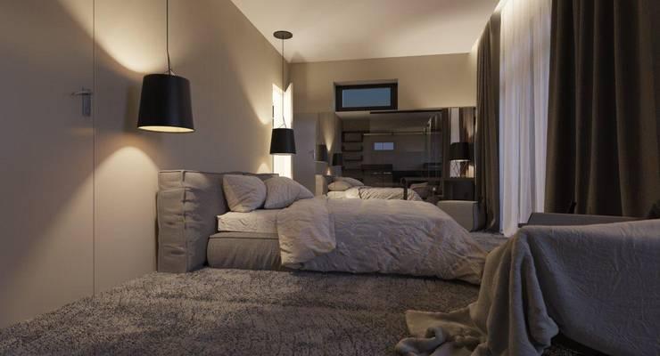 Пентхаус для денди: Спальни в . Автор – Архитектурное бюро DR House