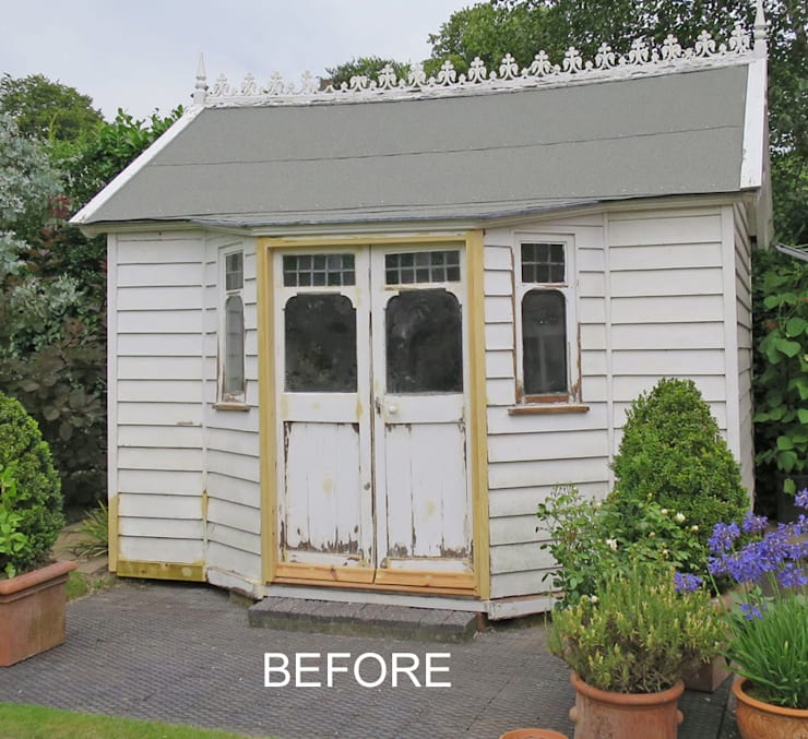 Restoring Edwardian Summer House - Before :  Garden by Paul D'Amico Remodels