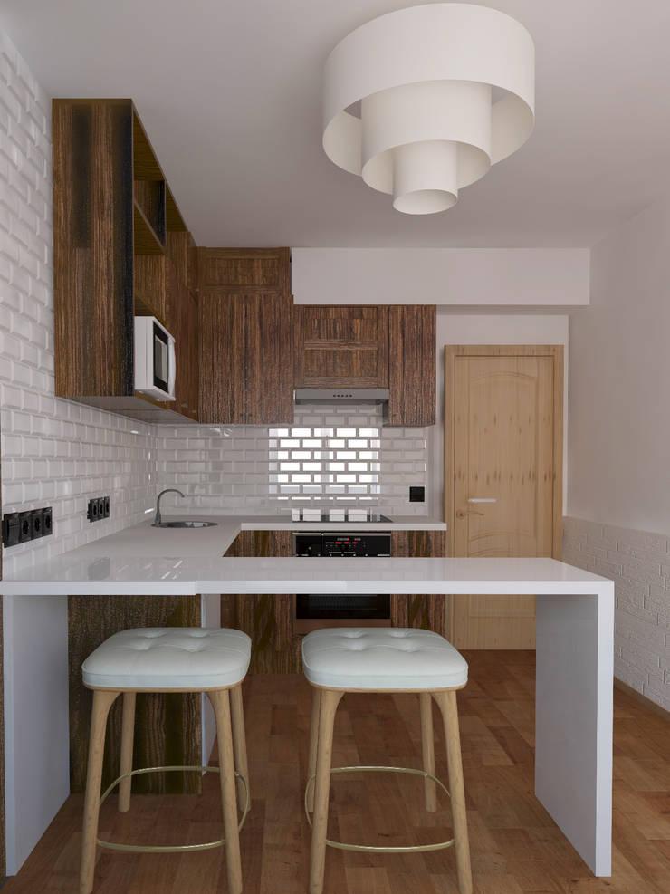Кухня, вид 2: Кухни в . Автор – Марина Козлова
