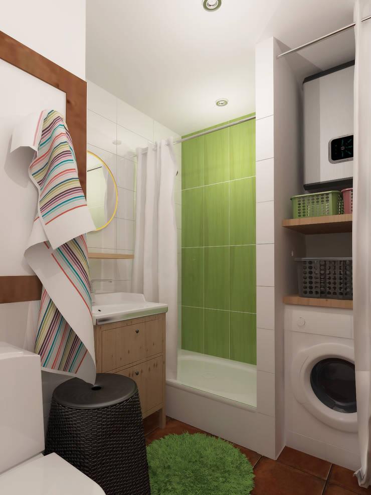 Ванная, вид 1: Ванные комнаты в . Автор – Марина Козлова,