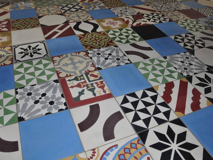 Marokkaanse cementtegels van Articima – Patchwork:  Muren door Articima, Mediterraan