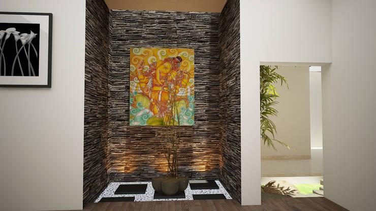 Hari C & Vanaja Residence:  Living room by dd Architects