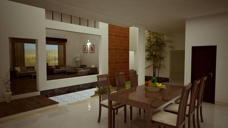 Hari C & Vanaja Residence:  Dining room by dd Architects