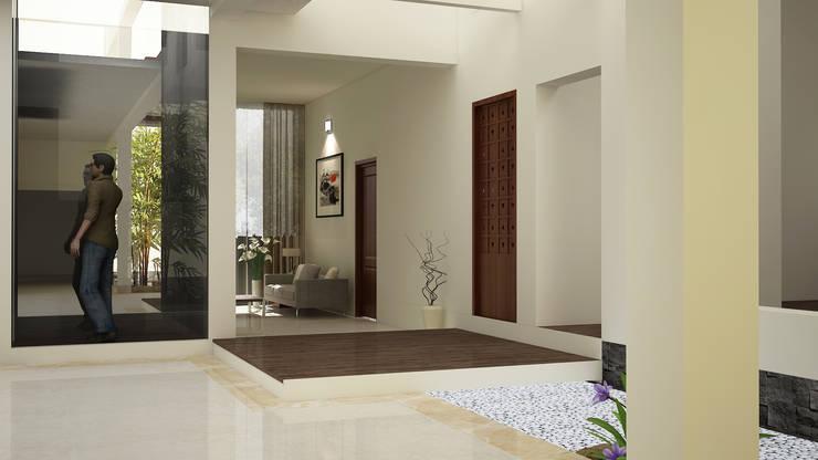 Hari C & Vanaja Residence:  Corridor & hallway by dd Architects