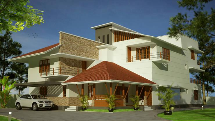 Hari C & Vanaja Residence:  Houses by dd Architects