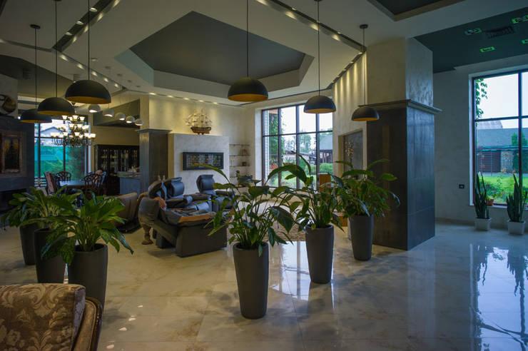 Projekty,  Salon zaprojektowane przez Ал