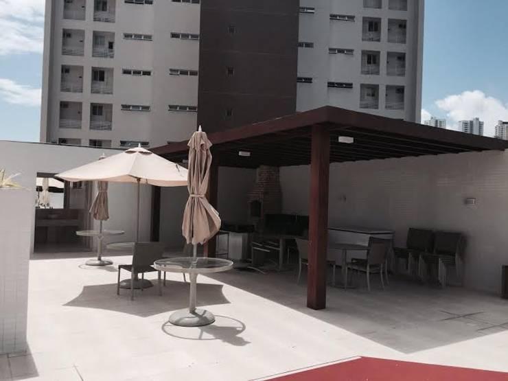 Espaces de bureaux modernes par BRASCON CONSTRUTORA Moderne