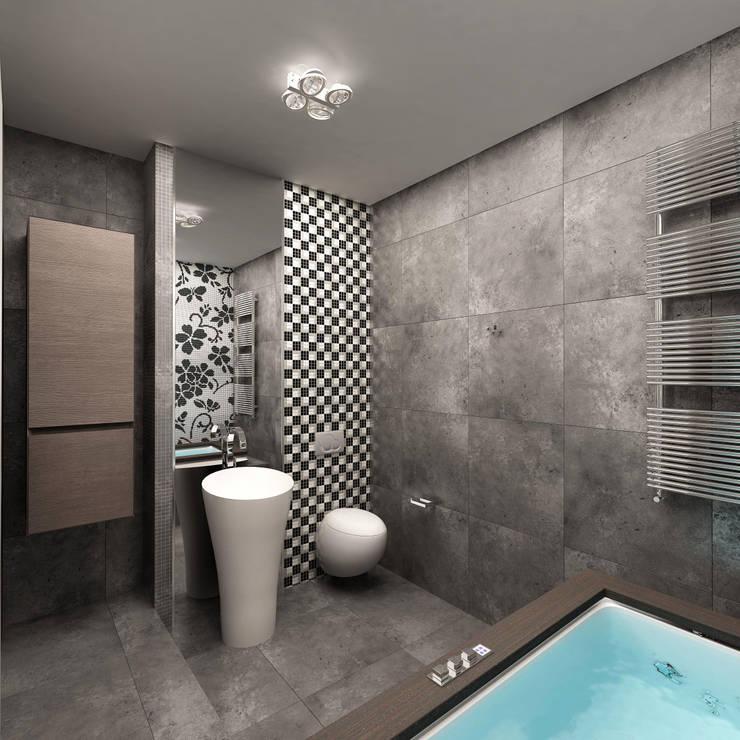 Холодный минимализм: Ванные комнаты в . Автор – Anfilada Interior Design