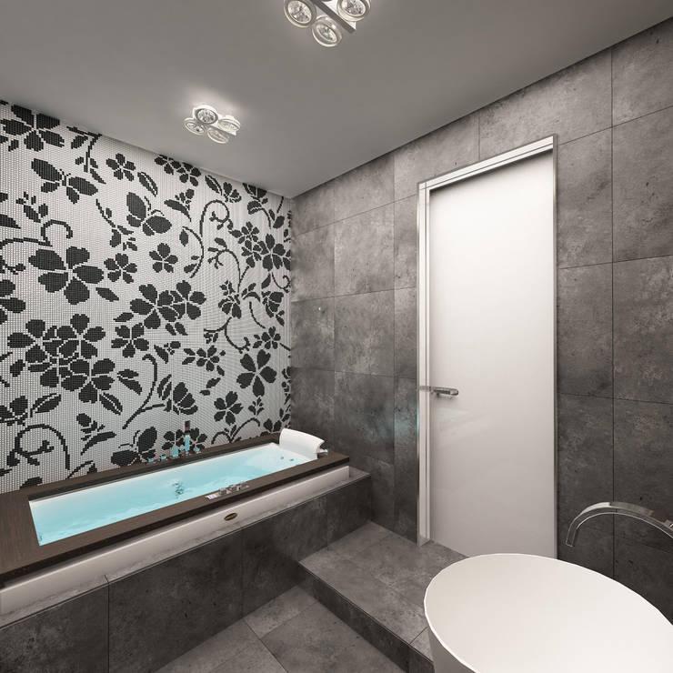 http://www.anfilada-studio.ru/xolodnyj-minimalizm/: Ванные комнаты в . Автор – Anfilada Interior Design