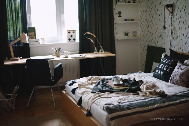 Dormitorios de estilo  por ИНТЕРЬЕР-ПРОЕКТ.РУ