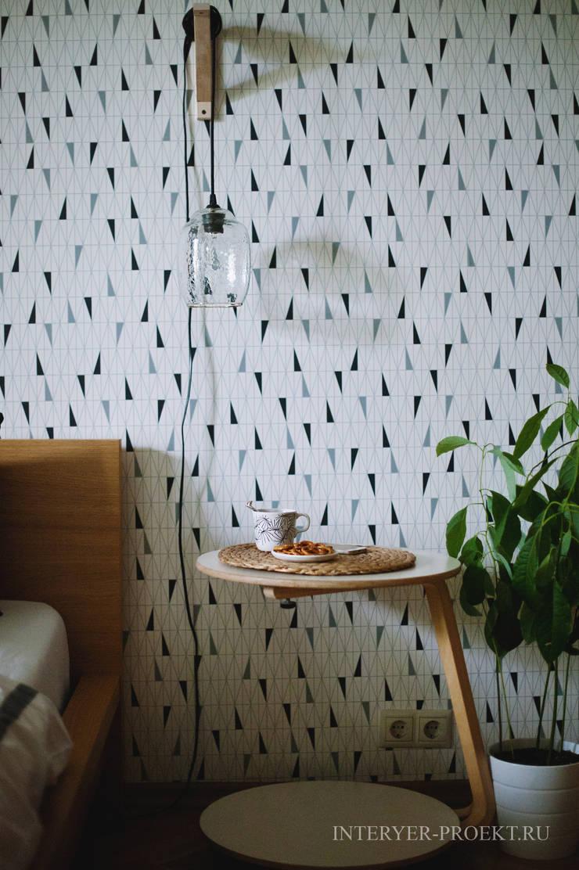Квартира в скандинавском стиле: Спальни в . Автор – ИНТЕРЬЕР-ПРОЕКТ.РУ,