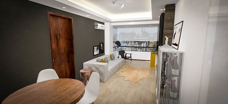 Salas de estar modernas por Cris Manzolli  Arquiteta