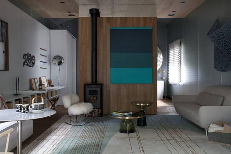 Obra de arte: Salas de estar  por Patricia Martinez Arquitetura,Escandinavo
