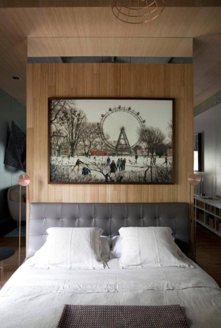 Quarto minimalista: Quartos  por Patricia Martinez Arquitetura,Escandinavo