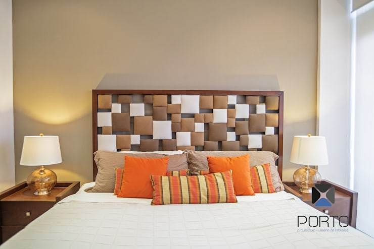 غرفة نوم تنفيذ PORTO Arquitectura + Diseño de Interiores,