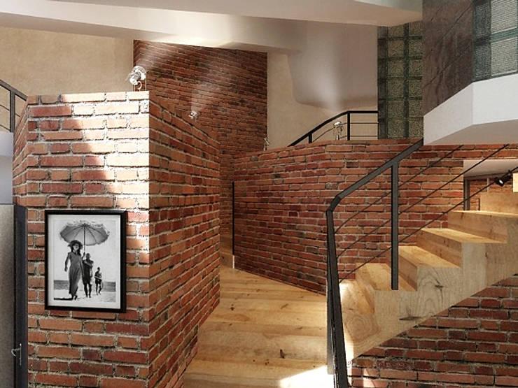 Ломанная квартира в стиле лофт: Коридор и прихожая в . Автор – Дизайн студия Александра Скирды ВЕРСАЛЬПРОЕКТ