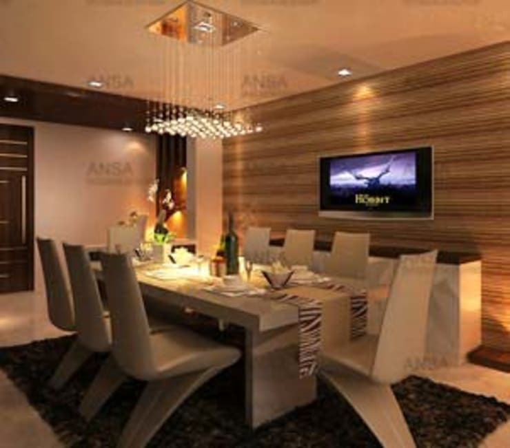 Residential: asian Dining room by ANSA Interiors