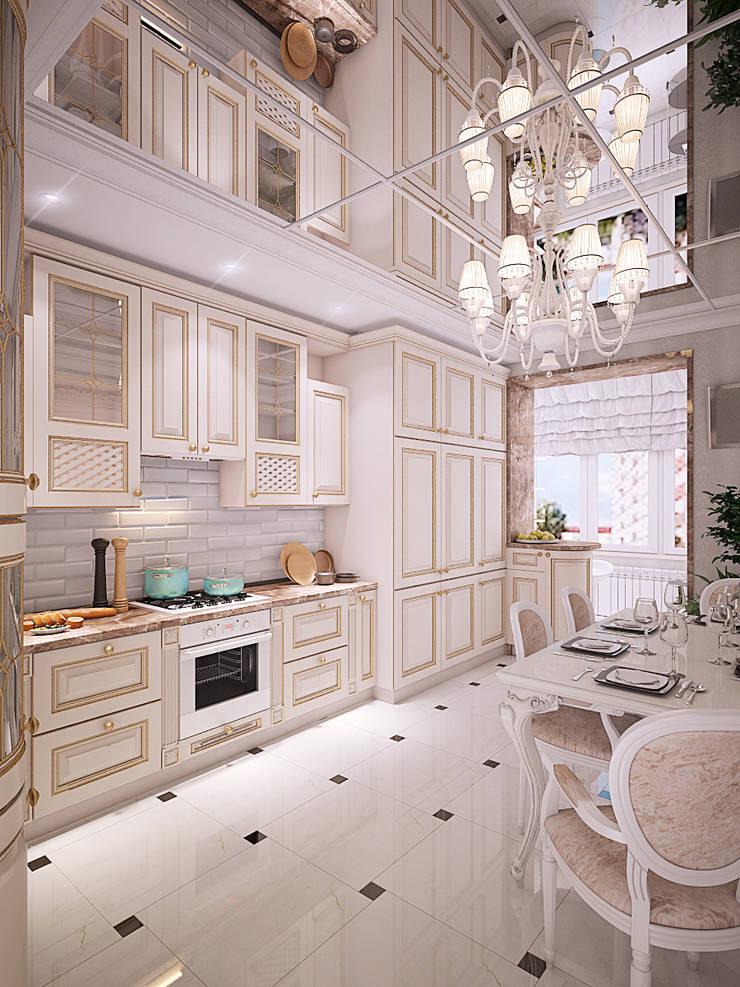 Дизайн квартиры в Новомосковске: Кухни в . Автор – Алина  Насонова,