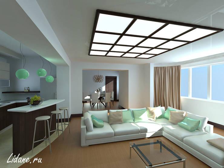 Квартира в стиле минимализм. Сочи: Гостиная в . Автор – Lidiya Goncharuk