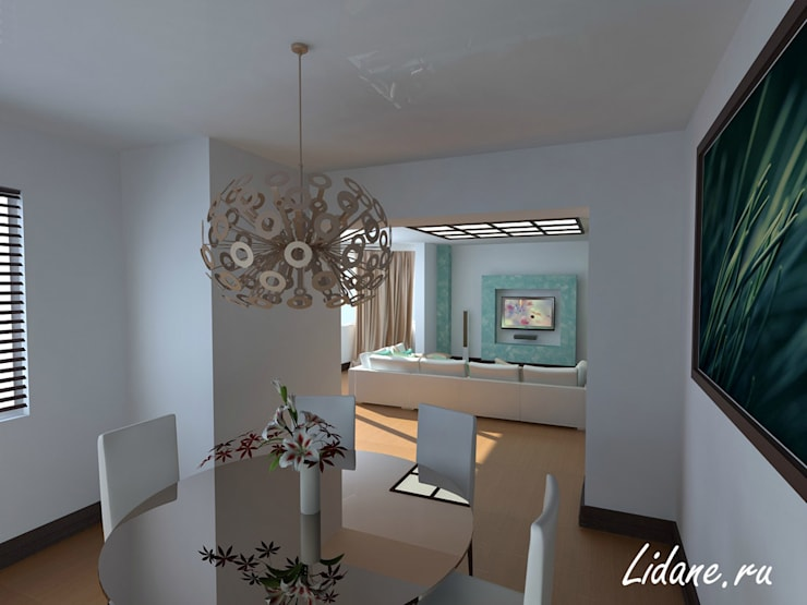 Квартира в стиле минимализм. Сочи: Столовые комнаты в . Автор – Lidiya Goncharuk