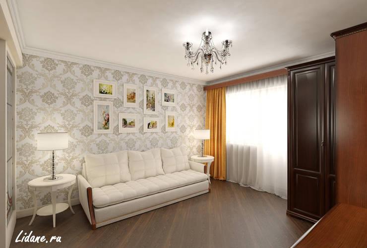 Семейные апартаменты. Москва: Гостиная в . Автор – Lidiya Goncharuk
