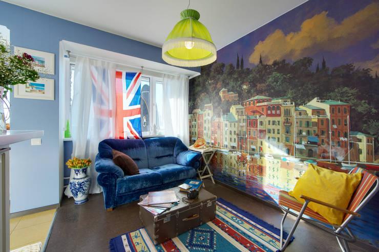 Порядок вещей - дизайн-бюро: rustik tarz tarz Oturma Odası