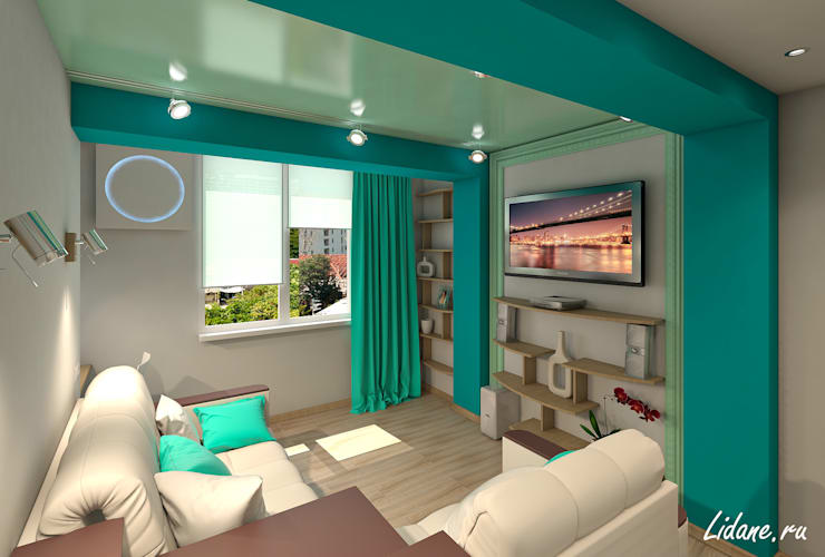 Salones de estilo minimalista de Lidiya Goncharuk