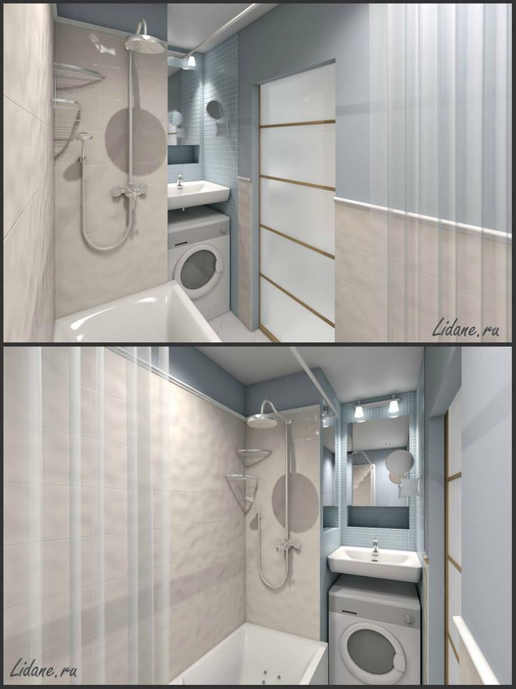 Студия в бирюзовых тонах. Сочи: Ванные комнаты в . Автор – Lidiya Goncharuk