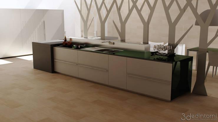 RENDERING SET VIRTUALE VALCUCINE ARTEMATICA MULTILINE: Cucina in stile  di 3Dedintorni