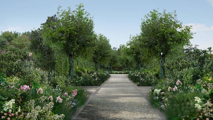 GIARDINO ADDOMESTICATO: Giardino in stile in stile Mediterraneo di Anna Paghera s.r.l. - Green Design