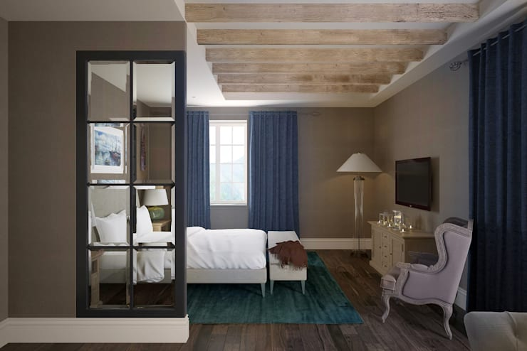 Спальня: Спальни в . Автор – lab21studio, Эклектичный