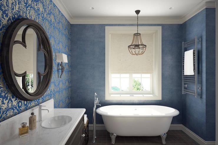 Санузел: Ванные комнаты в . Автор – lab21studio, Эклектичный