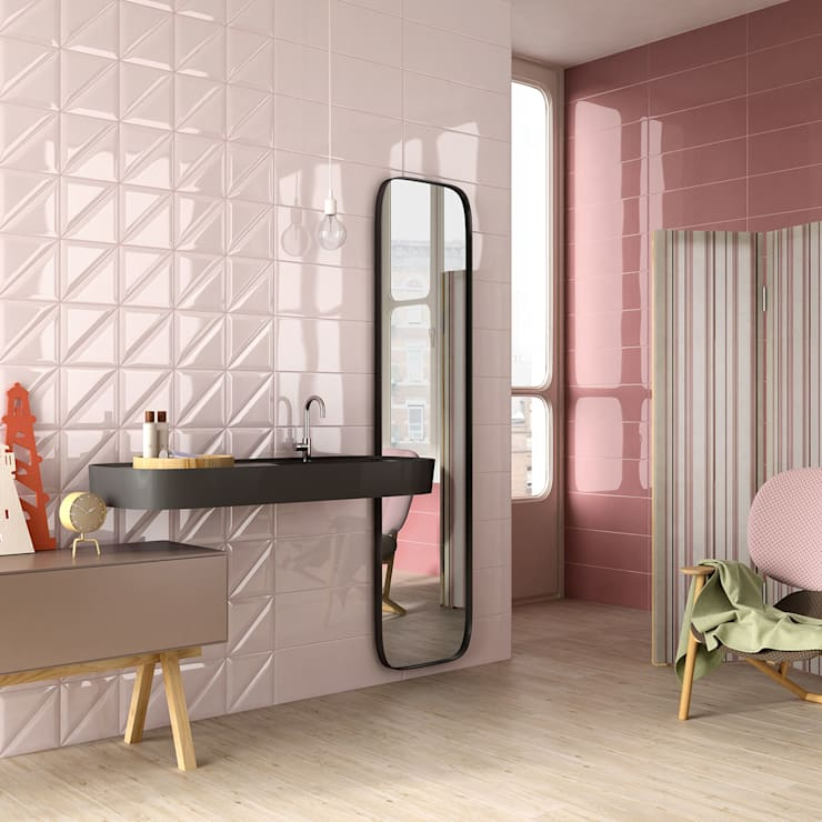 Casas de banho modernas por Azulejos Peña s.l.