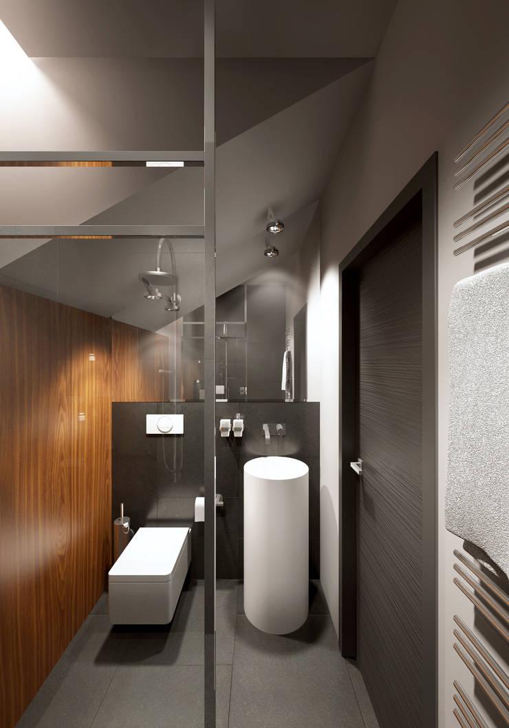 Санузел: Ванные комнаты в . Автор – lab21studio,