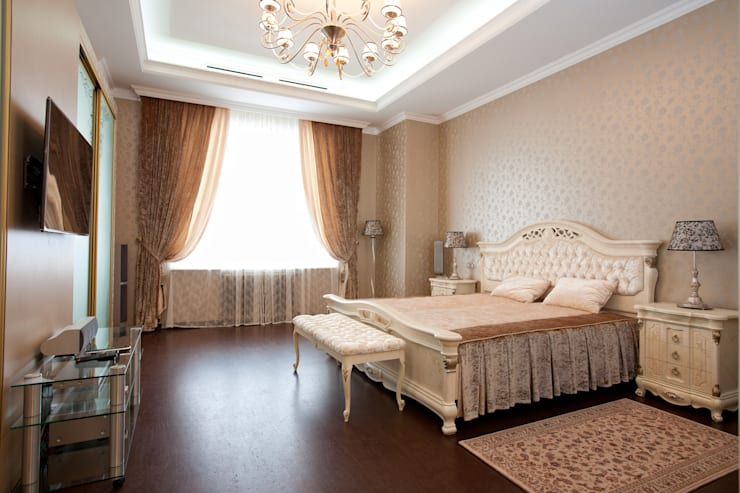 Квартира в классическом стиле: Спальни в . Автор – Antica Style