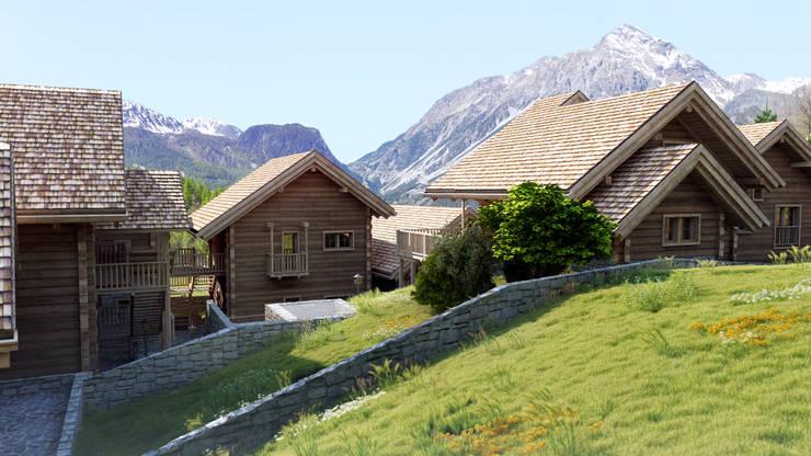 Projekty, rustykalne Domy zaprojektowane przez 3Dedintorni