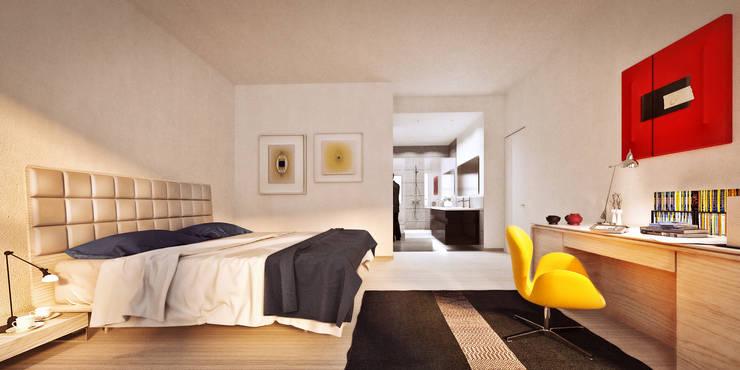 Bedroom by de-cube, Modern
