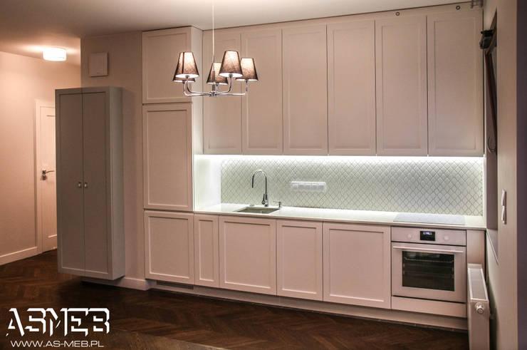 One-Wall Kitchen: styl , w kategorii Kuchnia zaprojektowany przez AS-MEB