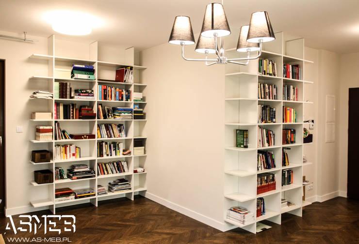 Regały na ksiązki: styl , w kategorii Salon zaprojektowany przez AS-MEB