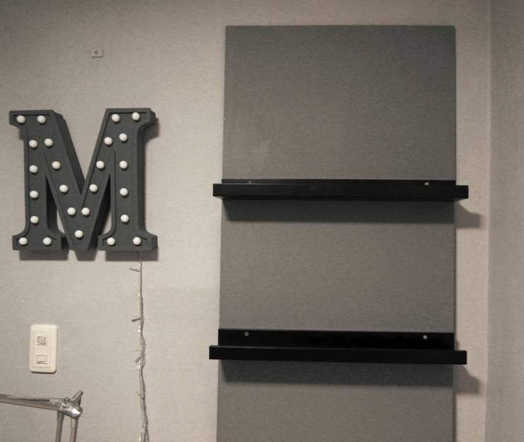 Projekty,  Domowe biuro i gabinet zaprojektowane przez little lamb story