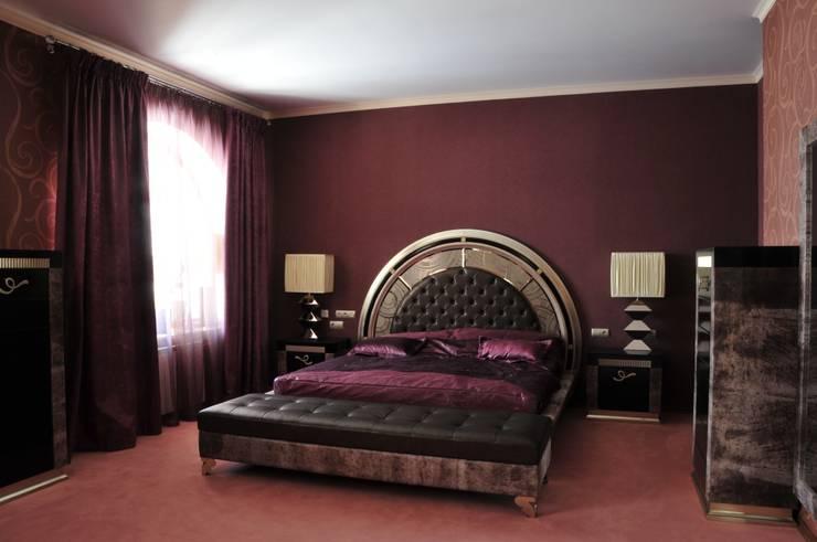 Интерьер квартиры в стиле Ар Деко: Спальная комната  в . Автор – Antica Style