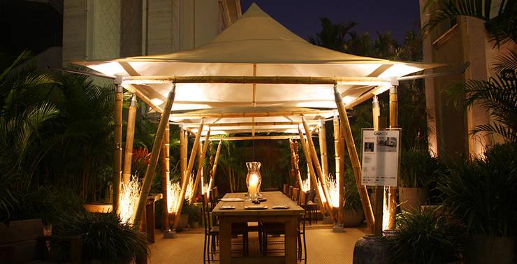 Eco Tenda: Jardins  por BAMBU CARBONO ZERO