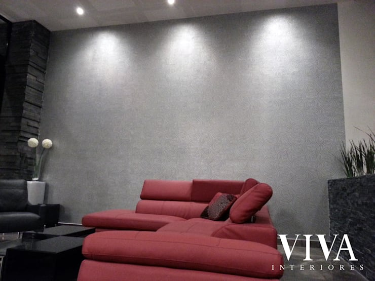 Plantilla Decorativa: Salas de estilo  por VIVAinteriores